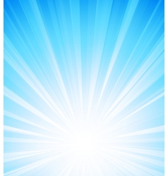 Blue summer sun light burst vector image