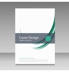 Brochure template cover color line design vector