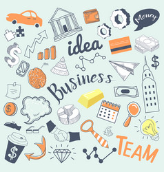Business idea freehand hand drawn doodle vector