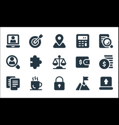 Business line icons linear set quality line set vector