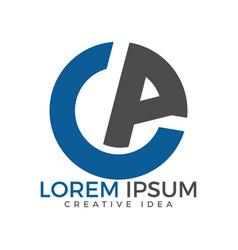 ca modern letter logo design vector image