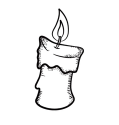 candle doodle vector image vector image