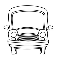 cartoon car transport travel empty vector image