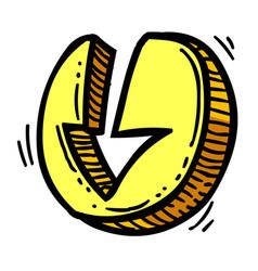 cartoon image of download icon arrow symbol vector image
