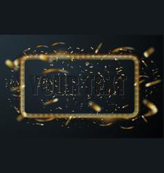 celebration background template golden square vector image