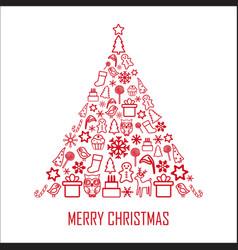 christmas greeting card 2 vector image