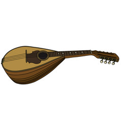Classic portugal mandolin vector