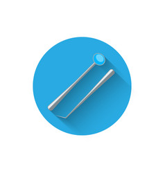 dental instruments icon in a flat vector image