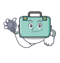 Doctor suitcase character cartoon style vector