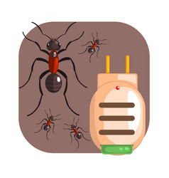 electric anti ant fumigator colorful cartoon vector image