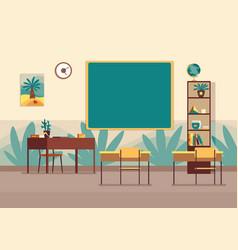 empty classroom nobody school class room vector image