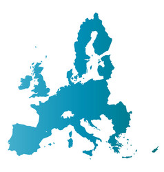 European union territory blue gradient silhouette vector