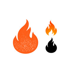 Fire flame red flame collection set vector
