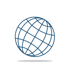 globe line logo template vector image