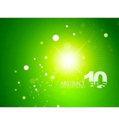 green shiny sky background vector image
