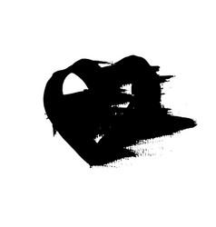grunge heart valentine day print vector image