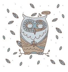Hand drawn Owl vector