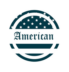 happy independence day american flag lettering vector image