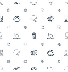 Hard icons pattern seamless white background vector
