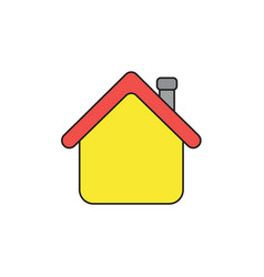 Icon concept house with roblack outlines vector