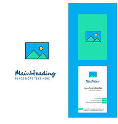 image creative logo and business card vertical vector image