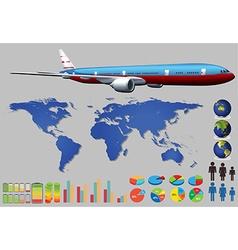 Infographic plane vector