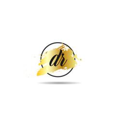 Initial letter dr logo template design vector