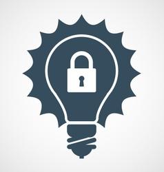 Intellectual property icon - light bulb vector
