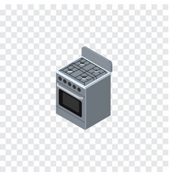 Isolated cooker isometric stove element vector