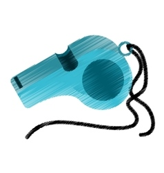 Isolated whistle of trainer design vector