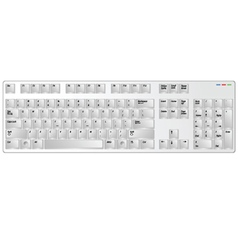 keyboard white vector image