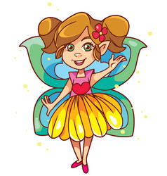 Little fairy on white vector