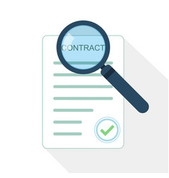 magnifier and contract icon vector image