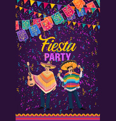mexican holiday fiesta party cinco de mayo vector image