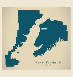 Modern map - kenai peninsula alaska county usa vector