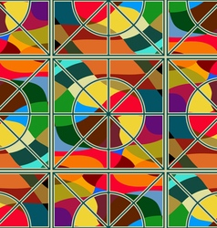 Mosaic colored glass vector image