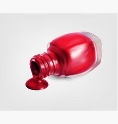 nail polish bottle on white background vector image