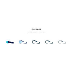 One shoe icon in different style two colored vector
