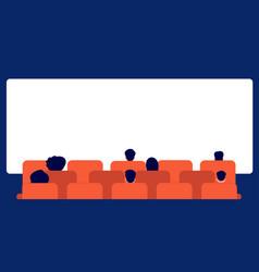 people watching movie cinema audience cartoon vector image