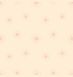 pink flowers on light cream background vector image