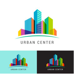 real estate logo building development icon and vector image