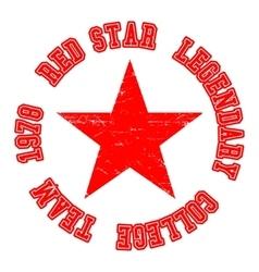 Red star vintage stamp vector image