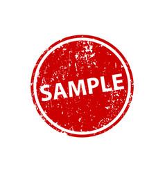 Sample sign sticker stamp texture vector