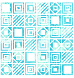 seamless geometric scratched pattern in turquoise vector image