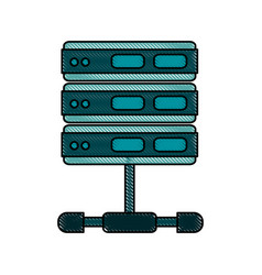 Servers web hosting icon image vector