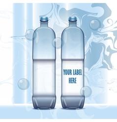 Set of transparent plastic blue liquid vector