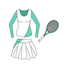 Special sport uniform vector