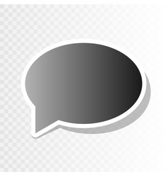 speech bubble icon new year blackish icon vector image