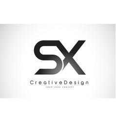 Sx s x letter logo design creative icon modern vector