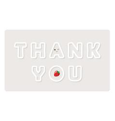 Thank you inscription cute paper cutout letters vector